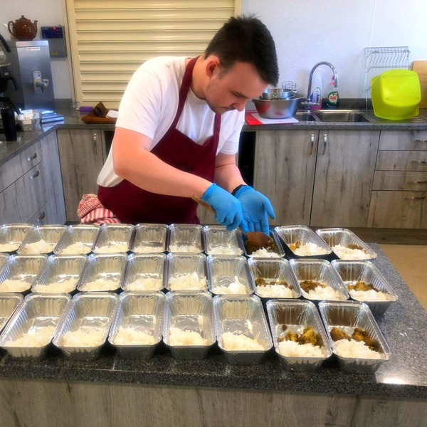 Meals being prepared at Caffe Rojano for NHS care workers